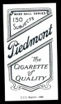 1909 T206 Reprint #159  Dick Egan  Back Thumbnail