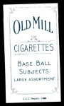1909 T206 Reprint #21 MIL Shad Barry  Back Thumbnail