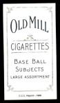1909 T206 Reprint #20 PHL Jack Barry  Back Thumbnail