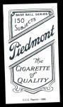 1909 T206 Reprint #363  Peter O'Brien  Back Thumbnail