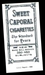 1909 T206 Reprint #369 POR Charley O'Leary  Back Thumbnail