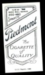 1909 T206 Reprint #312  George McBride  Back Thumbnail
