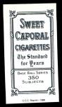 1909 T206 Reprint #252 POR Ed Killian  Back Thumbnail