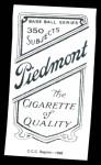 1909 T206 Reprint #273 xBAL Joe Lake  Back Thumbnail