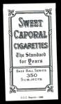 1909 T206 Reprint #280 POR Tommy Leach  Back Thumbnail