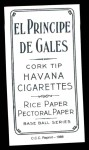 1909 T206 Reprint #211 NY Buck Herzog  Back Thumbnail
