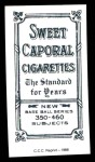 1909 T206 Reprint #219  Bock Hooker  Back Thumbnail