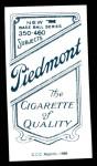 1909 T206 Reprint #230  Fred Jacklitsch  Back Thumbnail