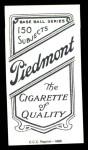 1909 T206 Reprint #240 STL Tom Jones  Back Thumbnail