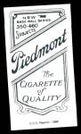 1909 T206 Reprint #520 xCAP Hooks Wiltse  Back Thumbnail