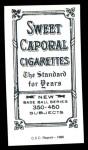 1909 T206 Reprint #521 CAP Hooks Wiltse  Back Thumbnail