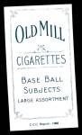 1909 T206 Reprint #424 BAT Admiral Schlei  Back Thumbnail