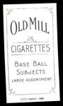 1909 T206 Reprint #434 BAT Cy Seymour  Back Thumbnail
