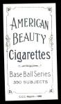 1909 T206 Reprint #445  Bill Shipke  Back Thumbnail