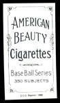 1909 T206 Reprint #462  Oscar Stanage  Back Thumbnail