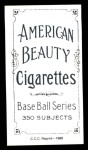 1909 T206 Reprint #415  Claude Rossman  Back Thumbnail