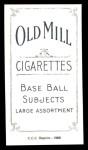 1909 T206 Reprint #418  Dick Rudolph  Back Thumbnail