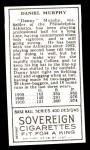 1911 T205 Reprint #143  Danny Murphy  Back Thumbnail
