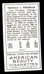 1911 T205 Reprint #146  Tom Needham  Back Thumbnail