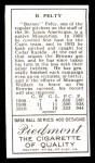 1911 T205 Reprint #155  Barney Pelty  Back Thumbnail