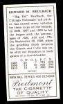 1911 T205 Reprint #162  Ed Reulbach  Back Thumbnail