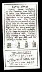 1911 T205 Reprint #97  David Jones  Back Thumbnail