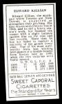 1911 T205 Reprint #101  Ed Killian  Back Thumbnail