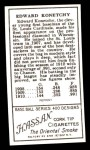 1911 T205 Reprint #105  Ed Konetchy  Back Thumbnail
