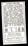 1911 T205 Reprint #106  Harry Krause  Back Thumbnail