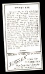 1911 T205 Reprint #112  Wyatt Lee  Back Thumbnail