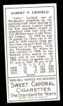 1911 T205 Reprint #114  Lefty Leifield  Back Thumbnail