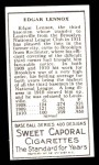 1911 T205 Reprint #115  Edgar Lennox  Back Thumbnail