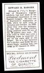 1911 T205 Reprint #10 PAR Cy Barger  Back Thumbnail