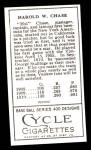 1911 T205 Reprint #33 LFT Hal Chase  Back Thumbnail