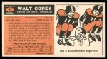 1965 Topps #97  Walt Corey  Back Thumbnail