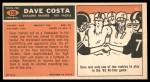1965 Topps #135  Dave Costa  Back Thumbnail