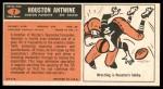 1965 Topps #2  Houston Antwine  Back Thumbnail