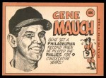 1969 Topps #606  Gene Mauch  Back Thumbnail