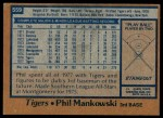 1978 Topps #559  Phil Mankowski  Back Thumbnail