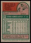 1975 Topps #284  Ken Griffey  Back Thumbnail