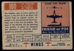 1952 Topps Wings #100   F9F Panther Back Thumbnail