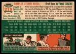 1954 Topps #219  Charlie Kress  Back Thumbnail