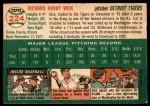 1954 Topps #224  Dick Weik  Back Thumbnail