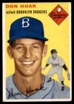 1954 Topps #211  Don Hoak  Front Thumbnail