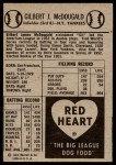 1954 Red Heart  Gil McDougald  Back Thumbnail