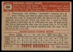 1952 Topps #130  Sheldon Jones  Back Thumbnail