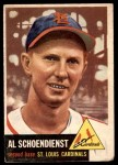 1953 Topps #78  Al  Red  Schoendienst  Front Thumbnail