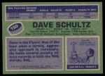1976 Topps #150  Dave Schultz  Back Thumbnail