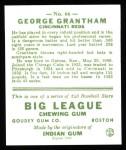 1933 Goudey Reprint #66  George Grantham  Back Thumbnail