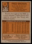 1978 Topps #59  Fred Brown  Back Thumbnail